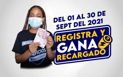 REGISTRA Y GANA RECARGADO